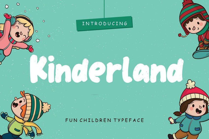 Kinderland Fun Children Typeface by RahardiCreative