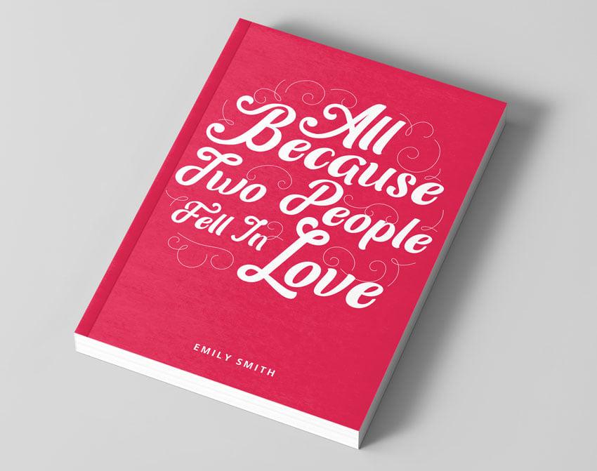 typographic book cover design