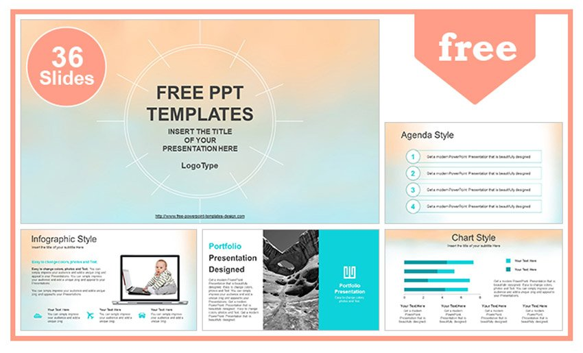 colorful abstract aesthetic PowerPoint background