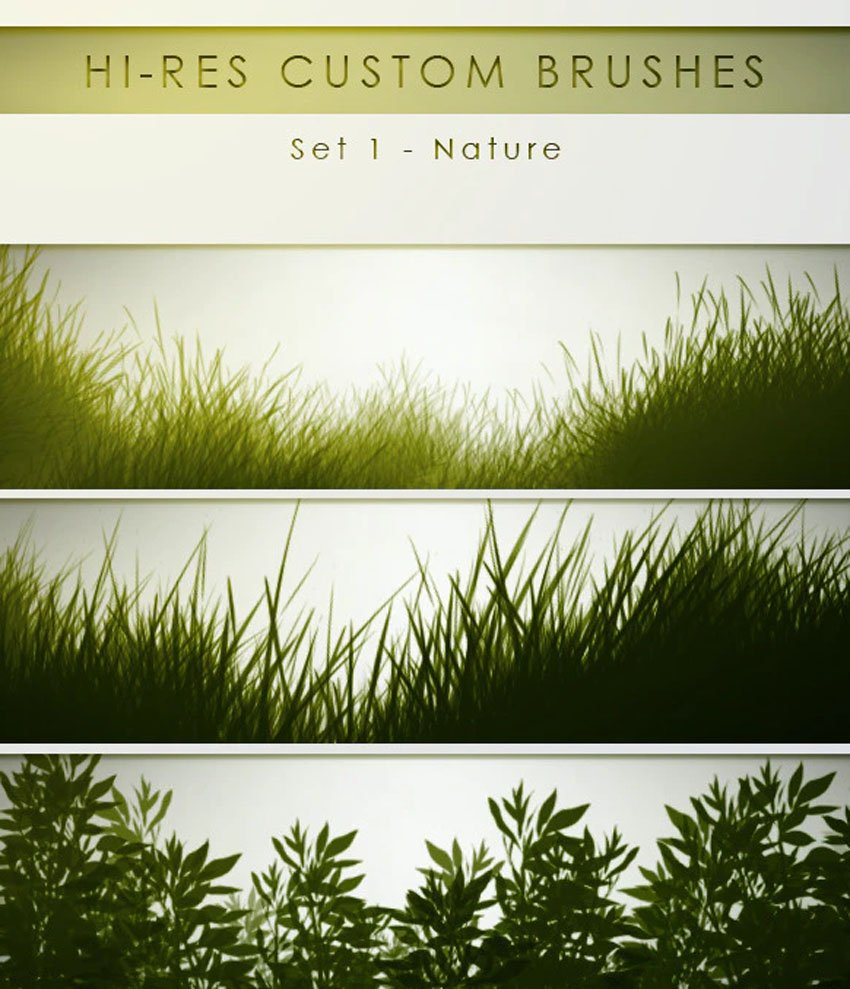 high res grass photoshop brushes