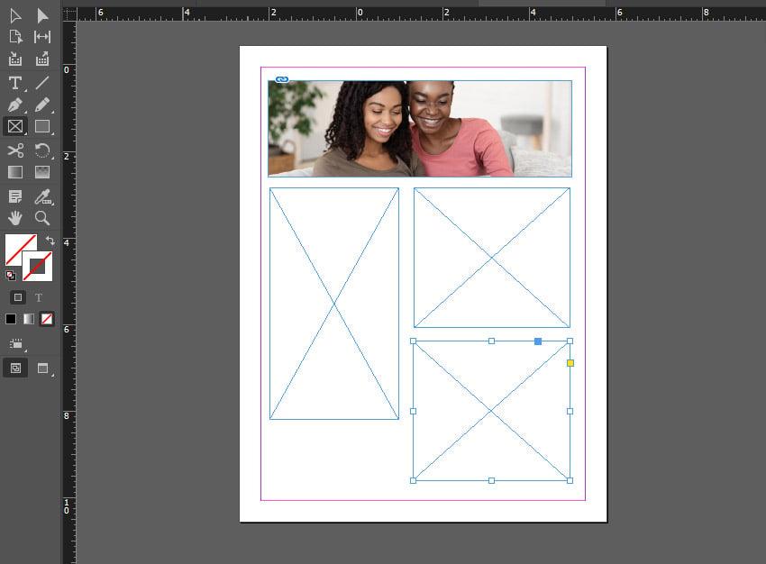 indesign rectangle frame
