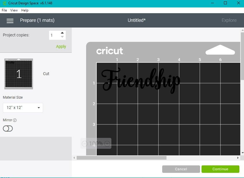 cricut make connected letters