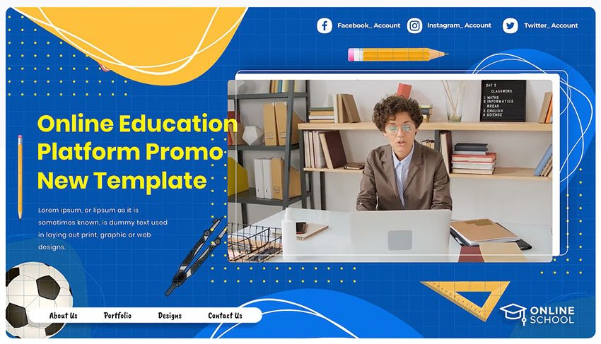 after effects template school