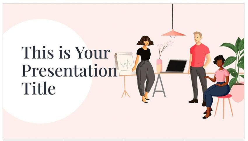 trendy powerpoint design template