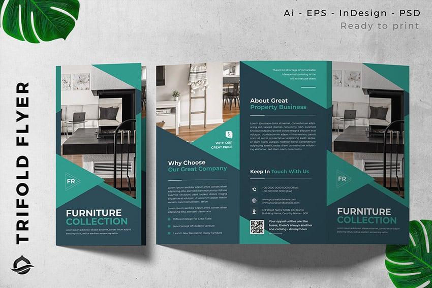 Interior Furniture Trifold Brochure Flyer