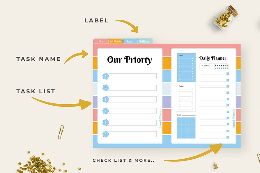 Colorful Checklist Template for Word