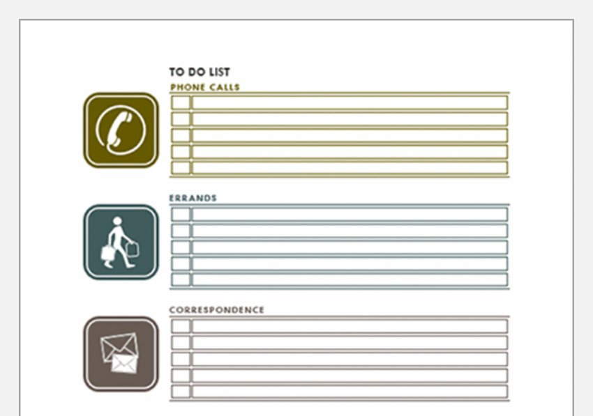 Errands To Do Checklist Microsoft Word