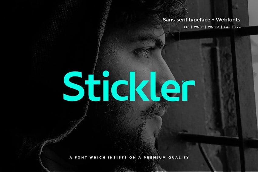 Stickler - Modern Typeface + WebFont