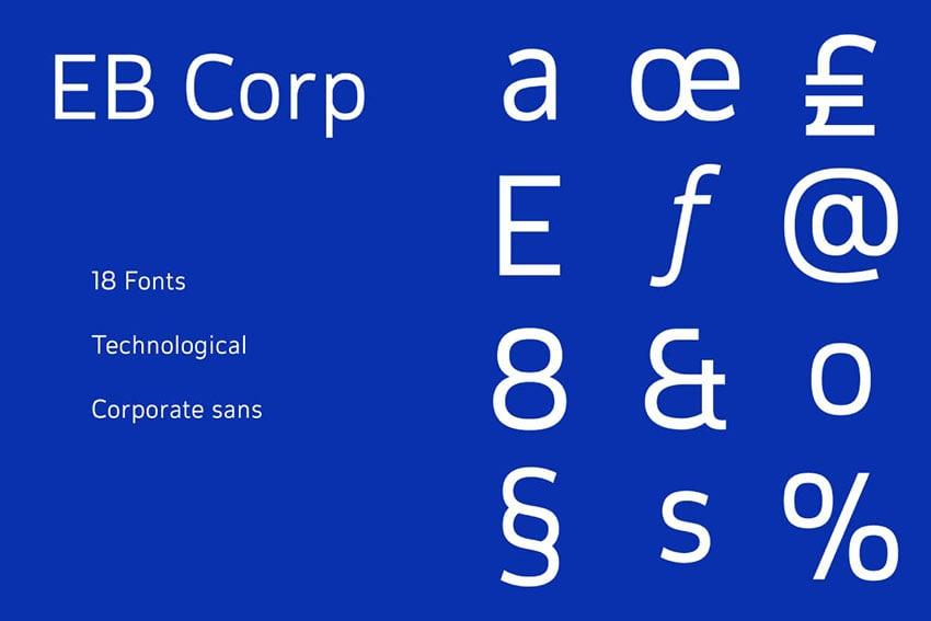 EB Corp Clean Sans Serif Font