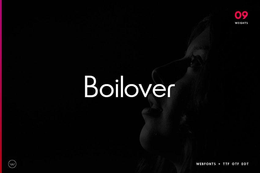 Boilover Unique & Minimal Typeface