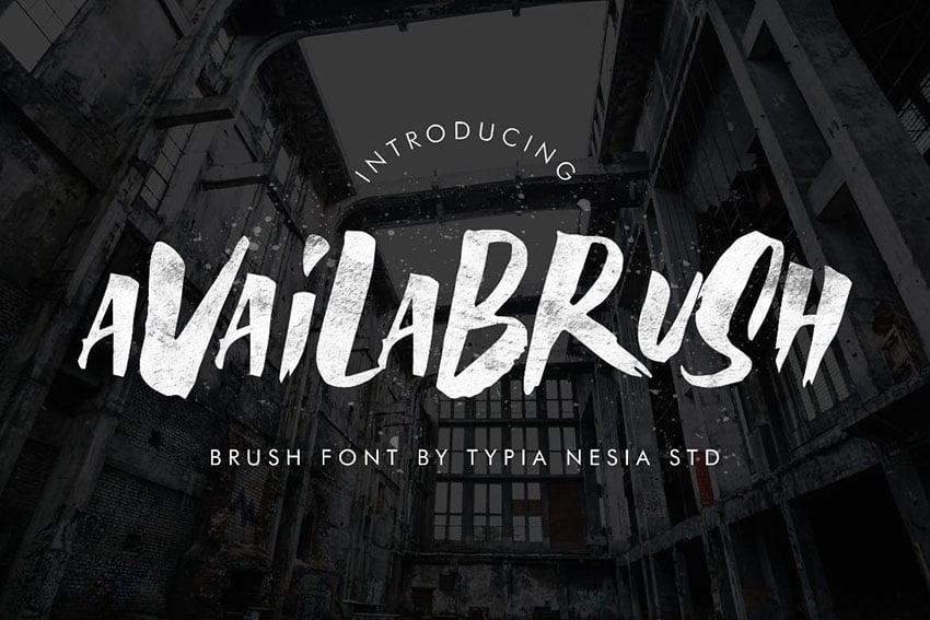 brush fonts
