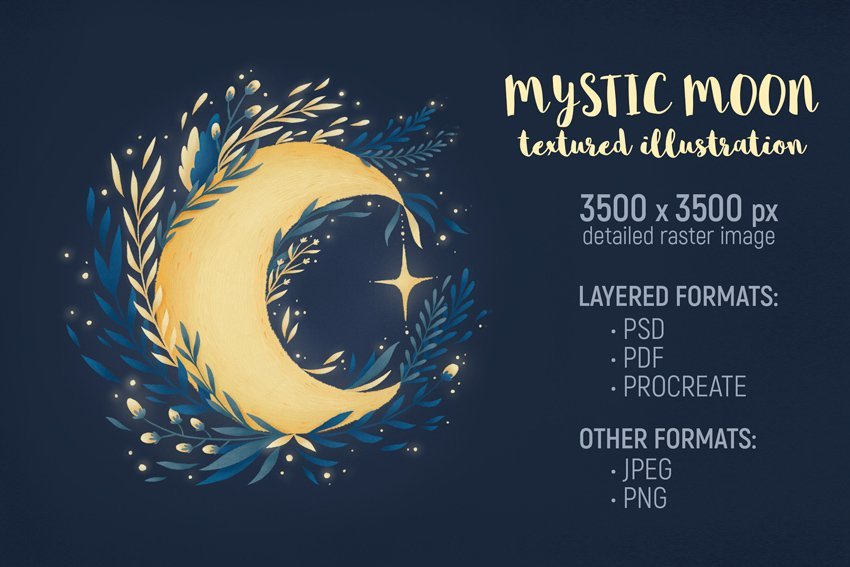 Mystic Moon Illustration