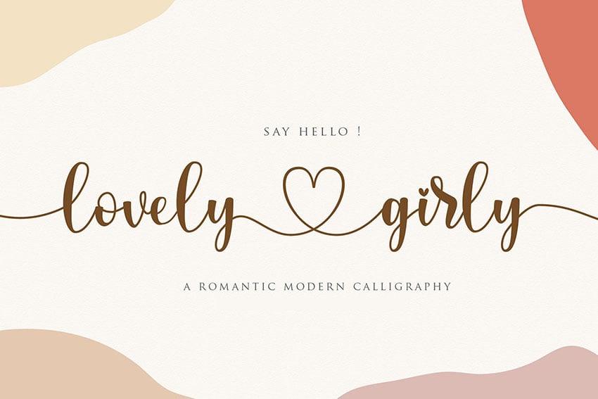 Lovelygirly - Romantic Calligraphy