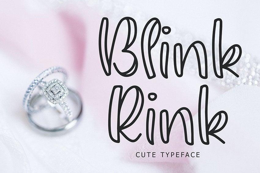 Blink Rink Cute Typeface
