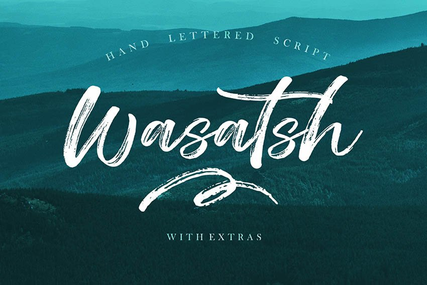 Wasatsh Textured Brush Font