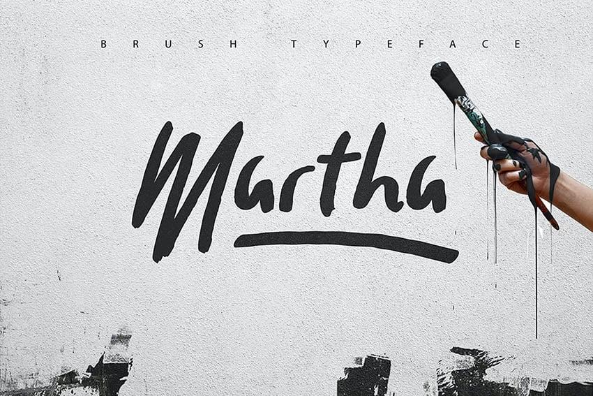 Martha Brush Typeface