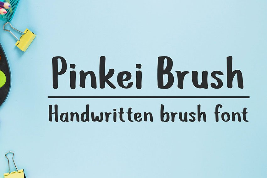 Pinkei Brush - Handwritten Brush Font