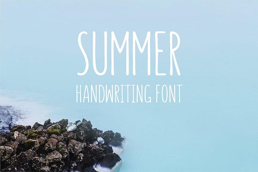 Summer - Handwriting Font