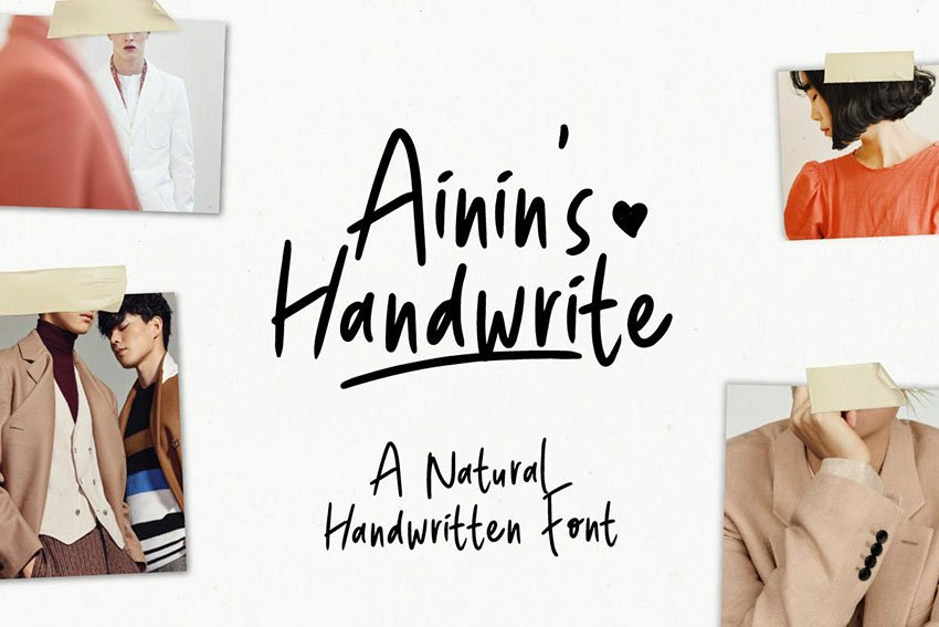 Ainin's Handwrite Font | Playfull Fun Typeface