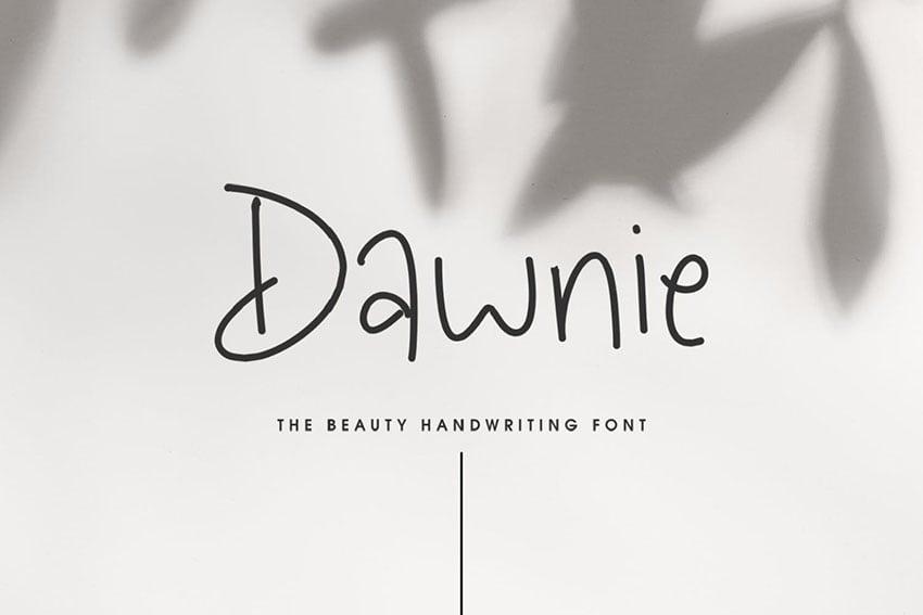Dawnie - The Beauty Handwriting Font