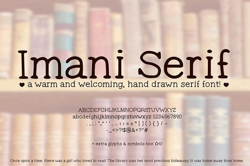 Imani Serif Cute Handwriting Font (Handwritten)