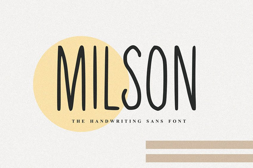 Milson - The Handwriting Sans Font