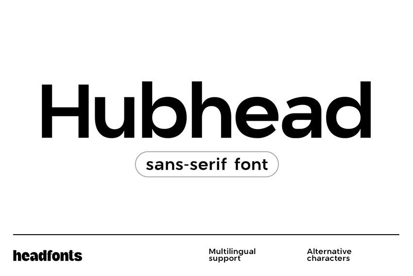 Hubhead Geometric Sans-Serif Font