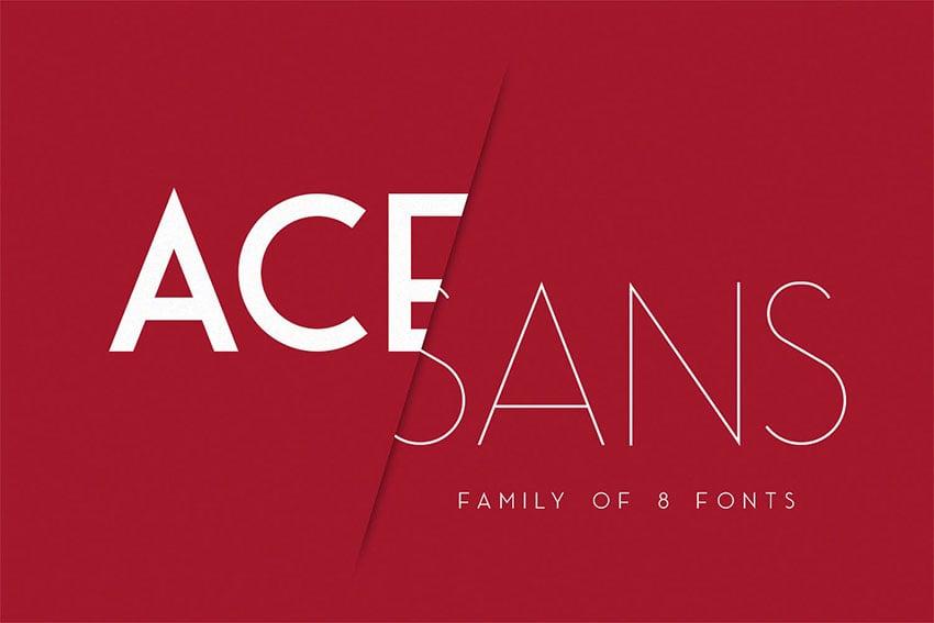 Ace Sans Modern Sans Serif Font