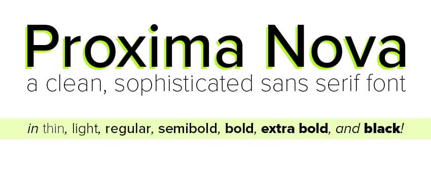 proxima nova font