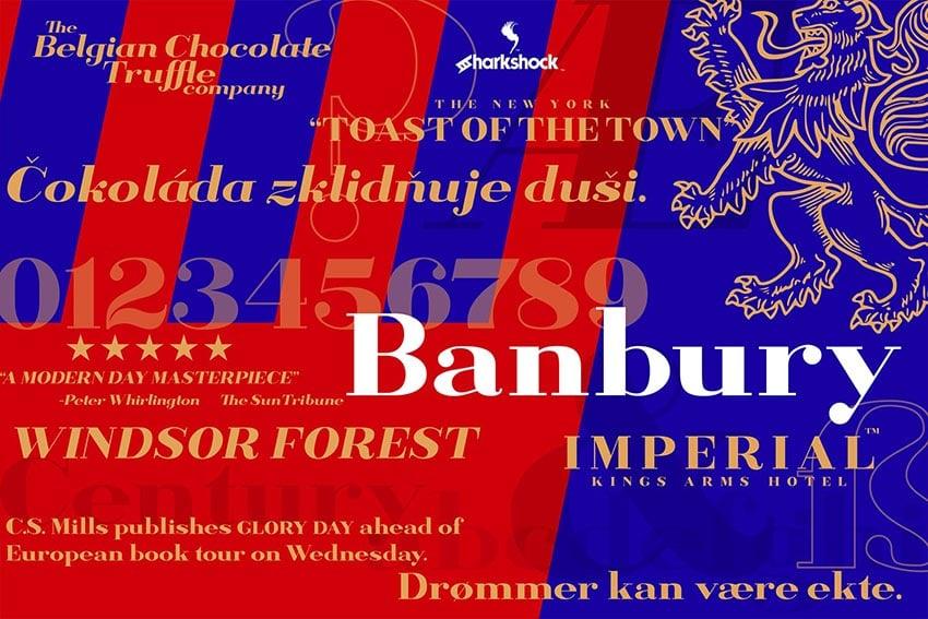 Banbury Display Serif Font