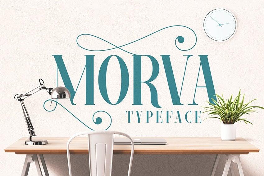 Morva Elegant Serif Typeface