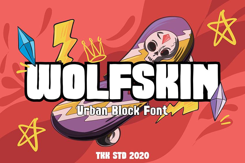 Wolfskin - Urban Block font