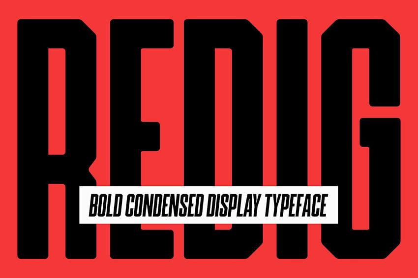 Redig Bold Sans Serif Font
