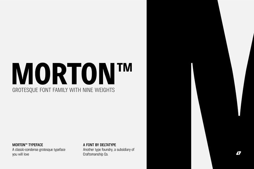 Morton Sans Serif Font Family