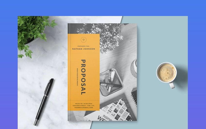 Clean graphic designer proposal
