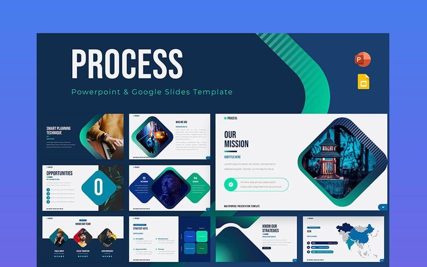Process Powerpoint & Google Slides Template