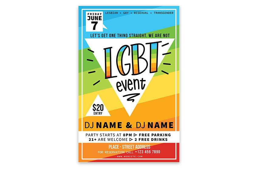 LGBT Event Flyer Template