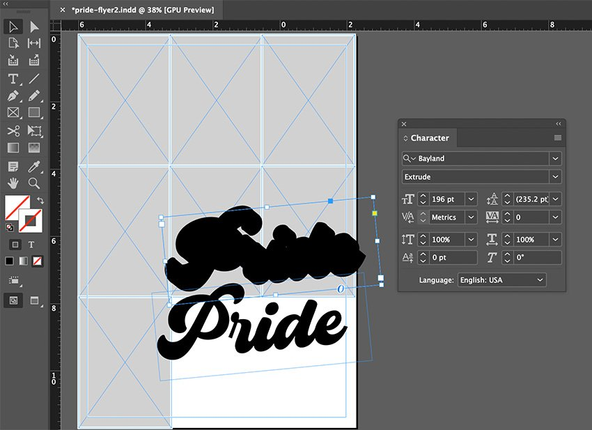indesign type tool stroke outline