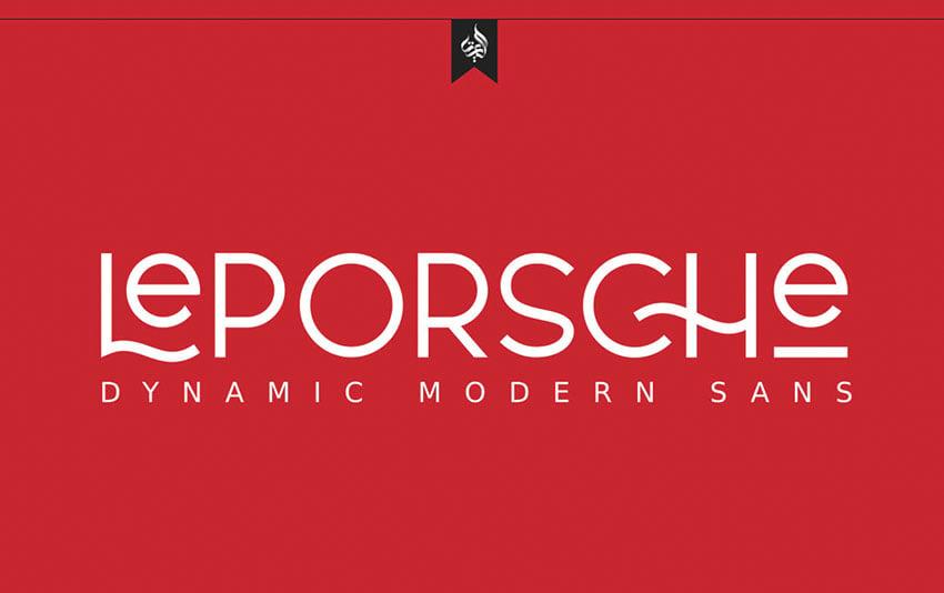 Le Porsche Free Font Download (Personal Use)