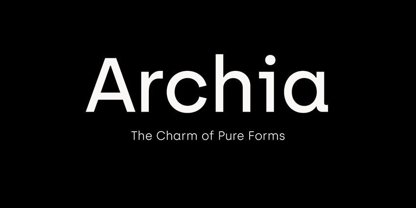 Archia typeface (Free Download)
