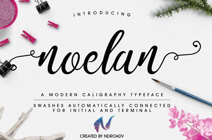 Noelan Free Calligraphy Font