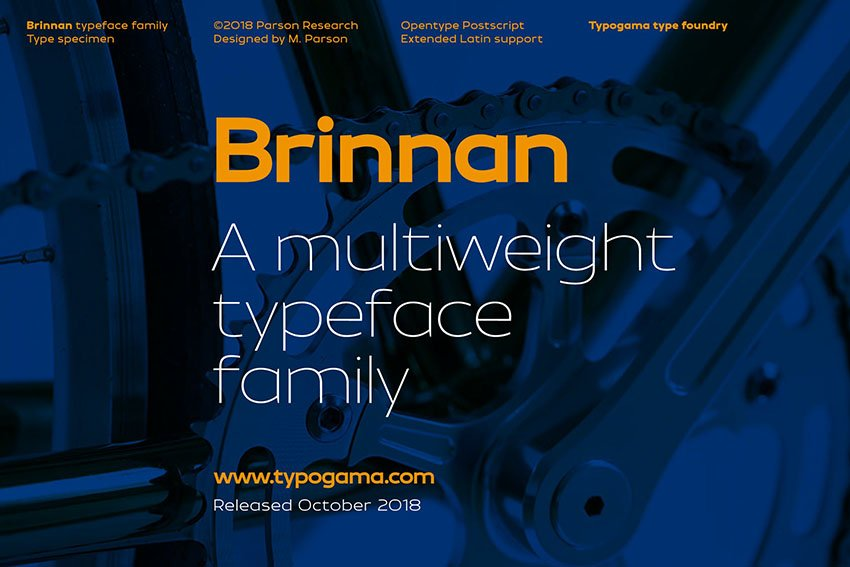 Brinnan Multi Weight Font Family