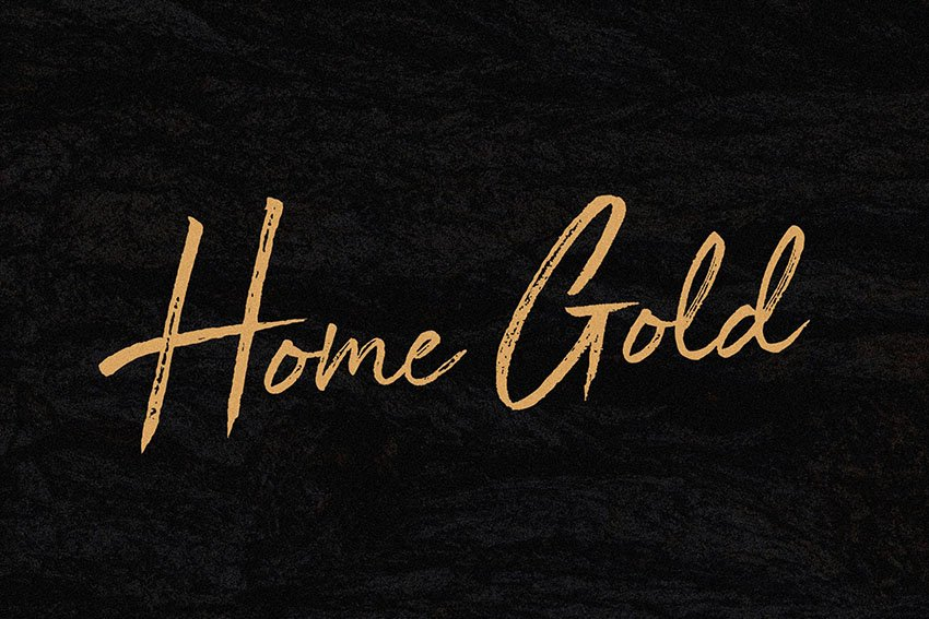 Home Gold Font