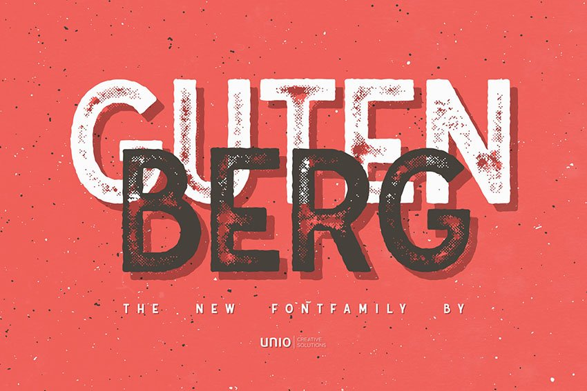 Gutenberg Texture Road Font Family