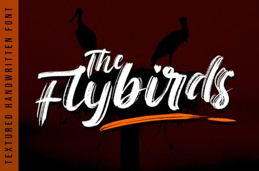 The Flybirds - Textured Brush Font