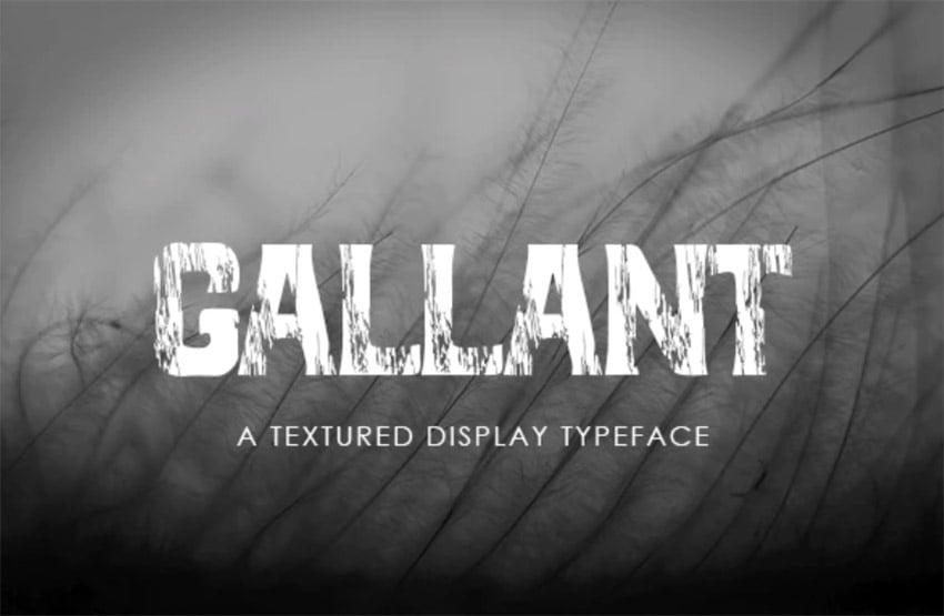 Gallant - A Textured Display Font
