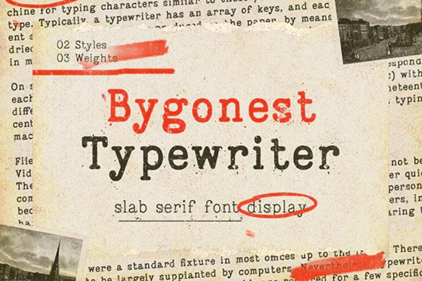 Bygonest - Old Typewriter Metal Texture Font