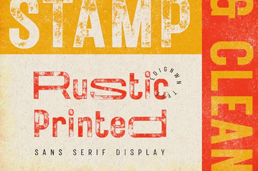 Rustic Printed - Vintage Font
