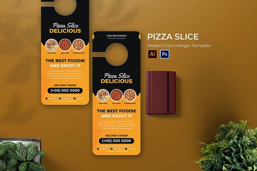 Pizza Slice Door Hanger