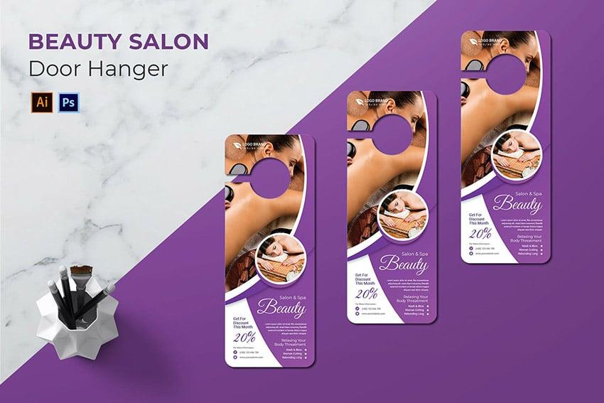 Beauty Salon Door Hanger